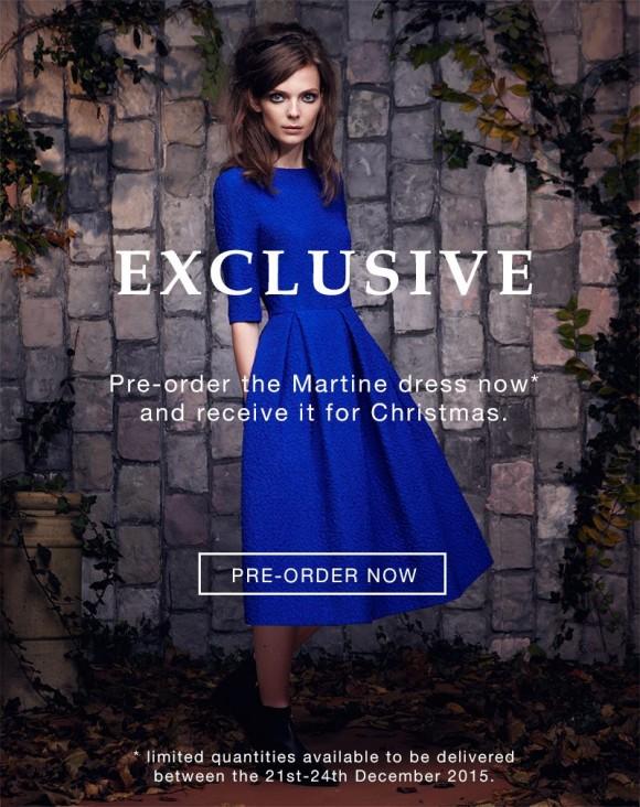 Saloni dress in cobalt blue