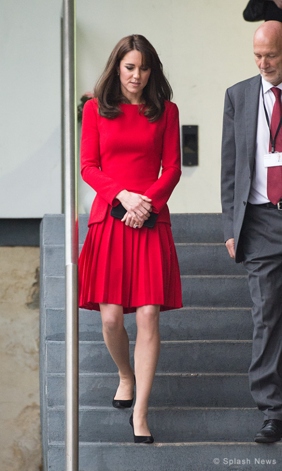 Kate Middleton wears Alexander McQueen to Anna Freud Centre