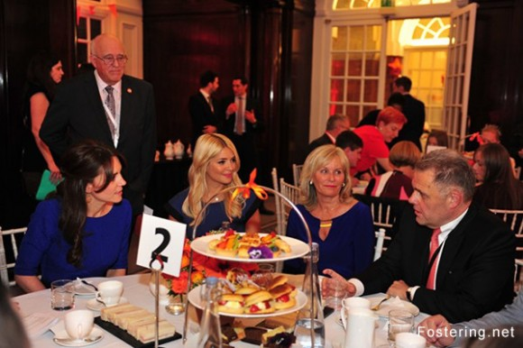 Kate Middleton at Fostering Network tea party