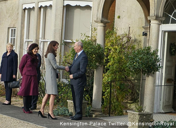 Kate's arrival at the Action on Addiction Centre