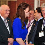Kate wears cobalt blue dress by Saloni to Fostering Excellence Awards