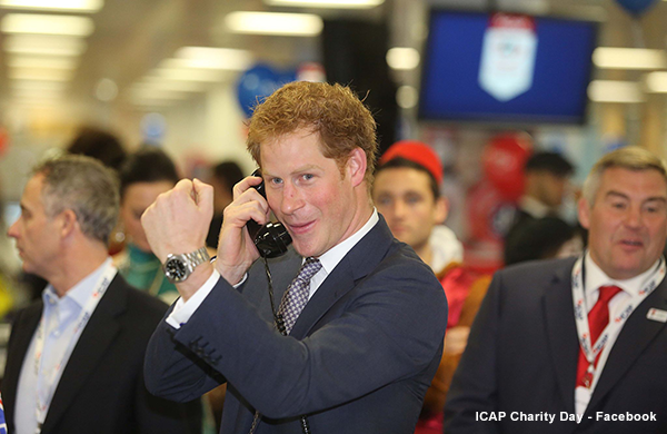 Prince Harry at the 2014 ICAP day