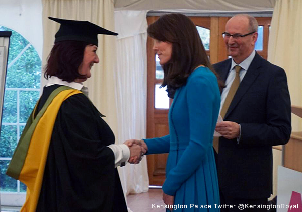 Kate attends a graduation ceremony