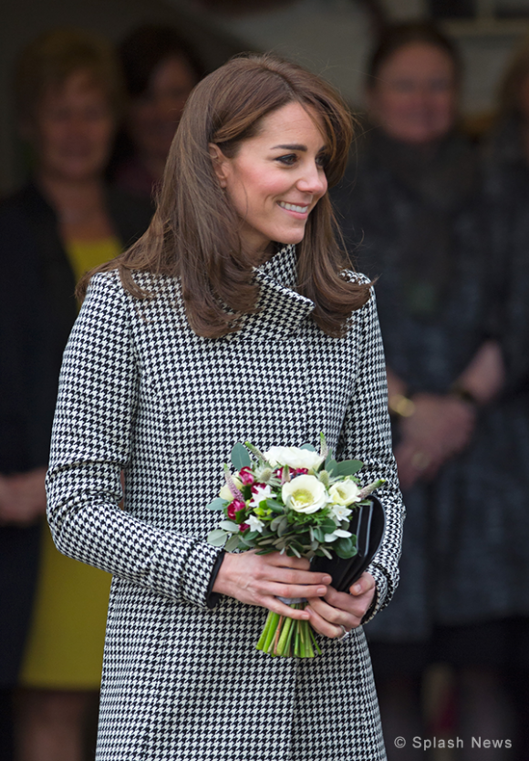 Kate Middleton wears Reiss Coat to Action on Addiction training centre today
