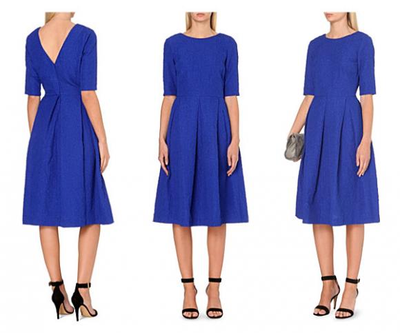Saloni Martine Dress in Cobalt Blue