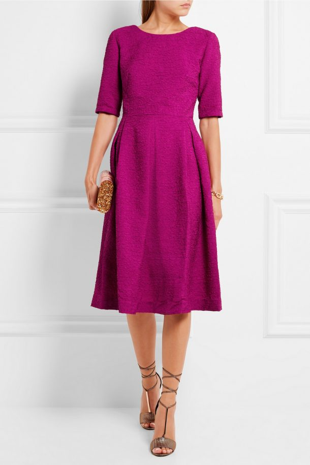 The Saloni Martine dress in Magenta