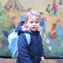 New photos taken by Kate mark Prince George's first day at Nursery