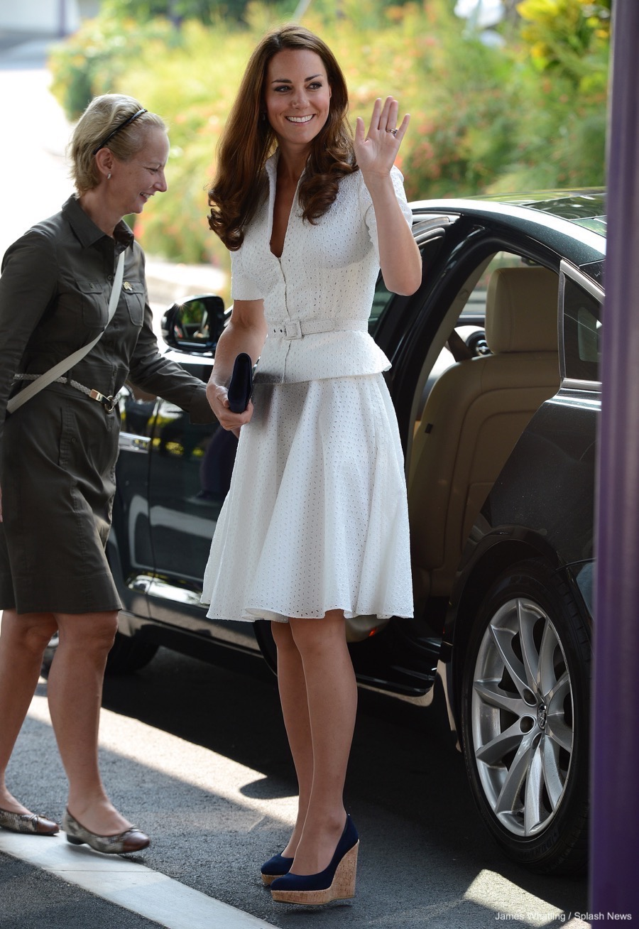 Kate Middleton wearing the Corkswoon wedges in Sinagpore