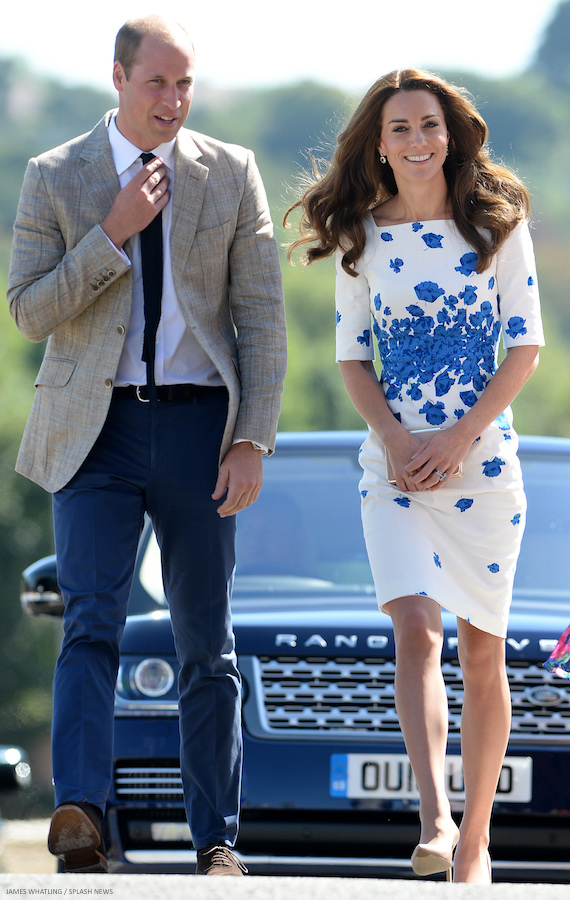 Kate Midldeton Wearing The L K Bennett Lasa Poppy Print Dress Middleton Her White Zimmermann In Australia