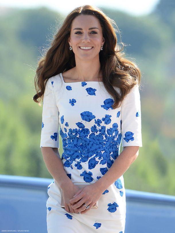 Kate Middleton wearing the L.K. Bennett Lasa Poppy Print Dress