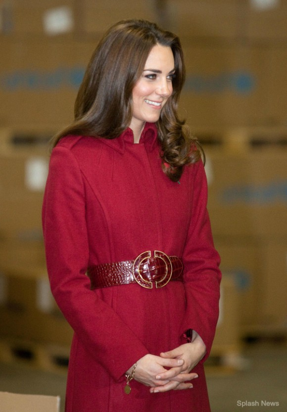Kate Middleton wears the L.K. Bennett Ami coat to Unicef in Copenhagen