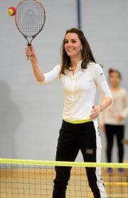 Kate Middleton at a tennis workshop