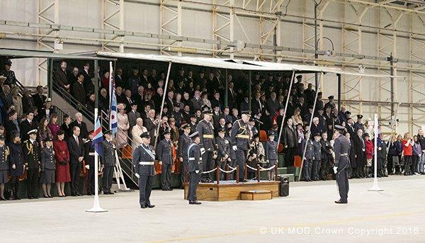RAF disbandment parade