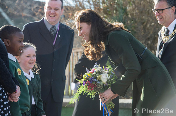 Duchess of Cambridge (Kate Middleton) visits Place2Be in Edinburgh