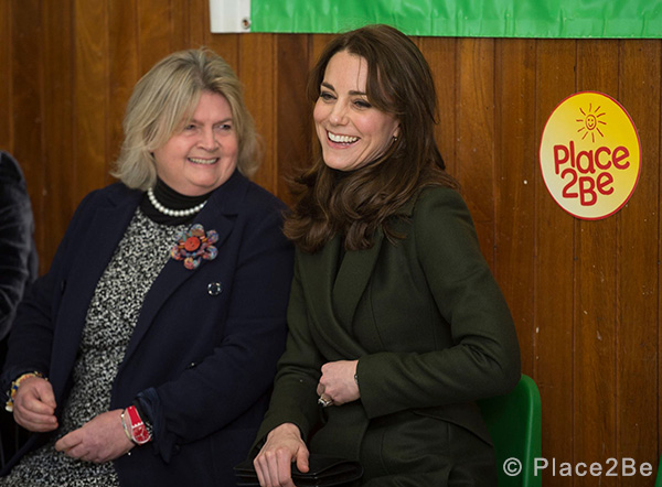 Lady Elizabeth Drummond, Place2Be Trustee with The Duchess of Cambridge in Edinburgh