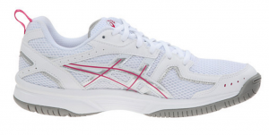 Asics pink and white
