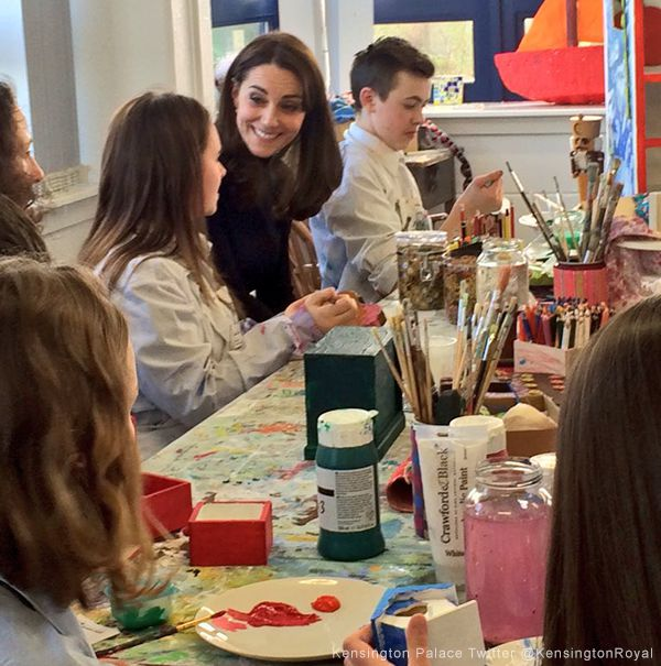 Kate Middleton visits The Art Room