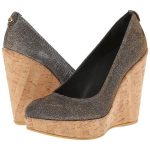 Corkswoon wedges in metallic