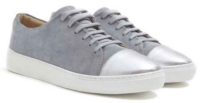 Grey suede mint velvet trainers