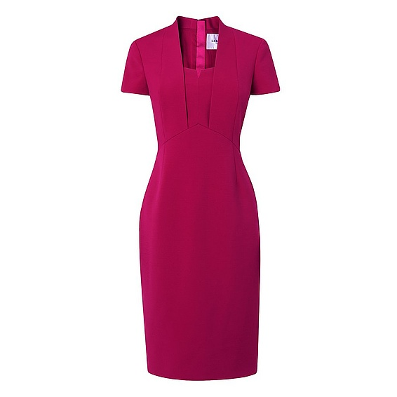LK Bennett Hendra dress in rosehip pink