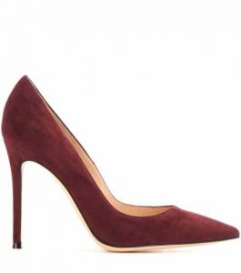 Gianvito Rossi in Burgundy/Purple