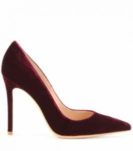Gianvito Rossi 105 pumps in purple velvet