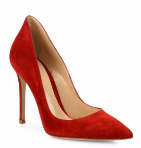 Gianvito Rossi Ellipsis in red