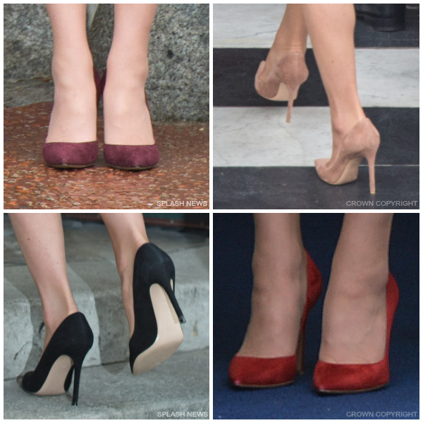 Kate Middleton wears the Gianvito Rossi pumps in 4 different colours
