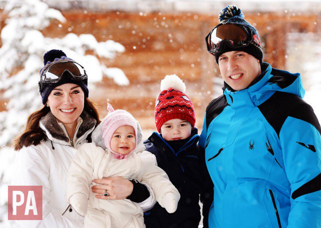 NEW PICS:  William, Kate, George & Charlotte enjoy ski holiday