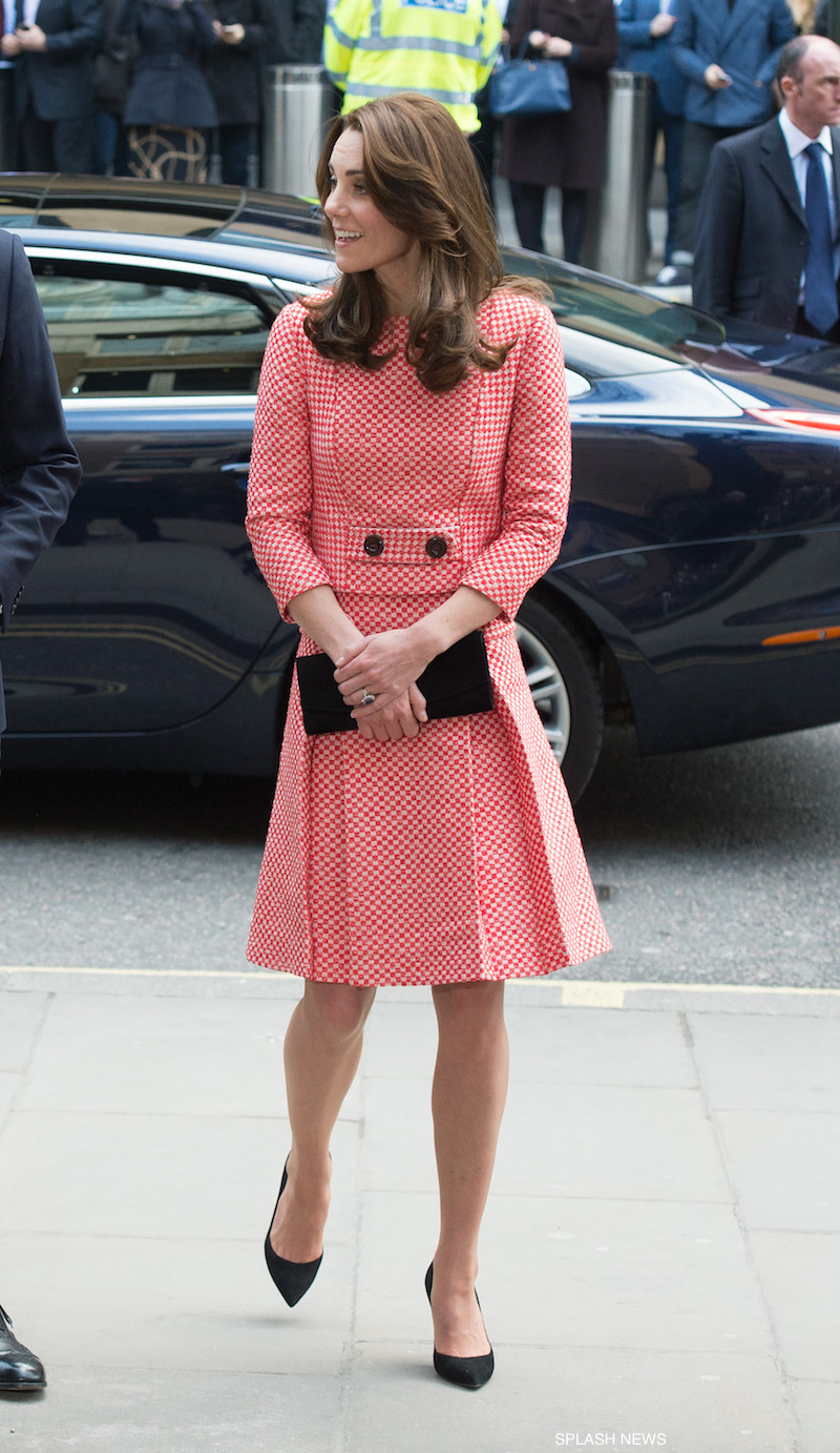 Kate Middleton wearing her Gianvito Rossi pumps in black