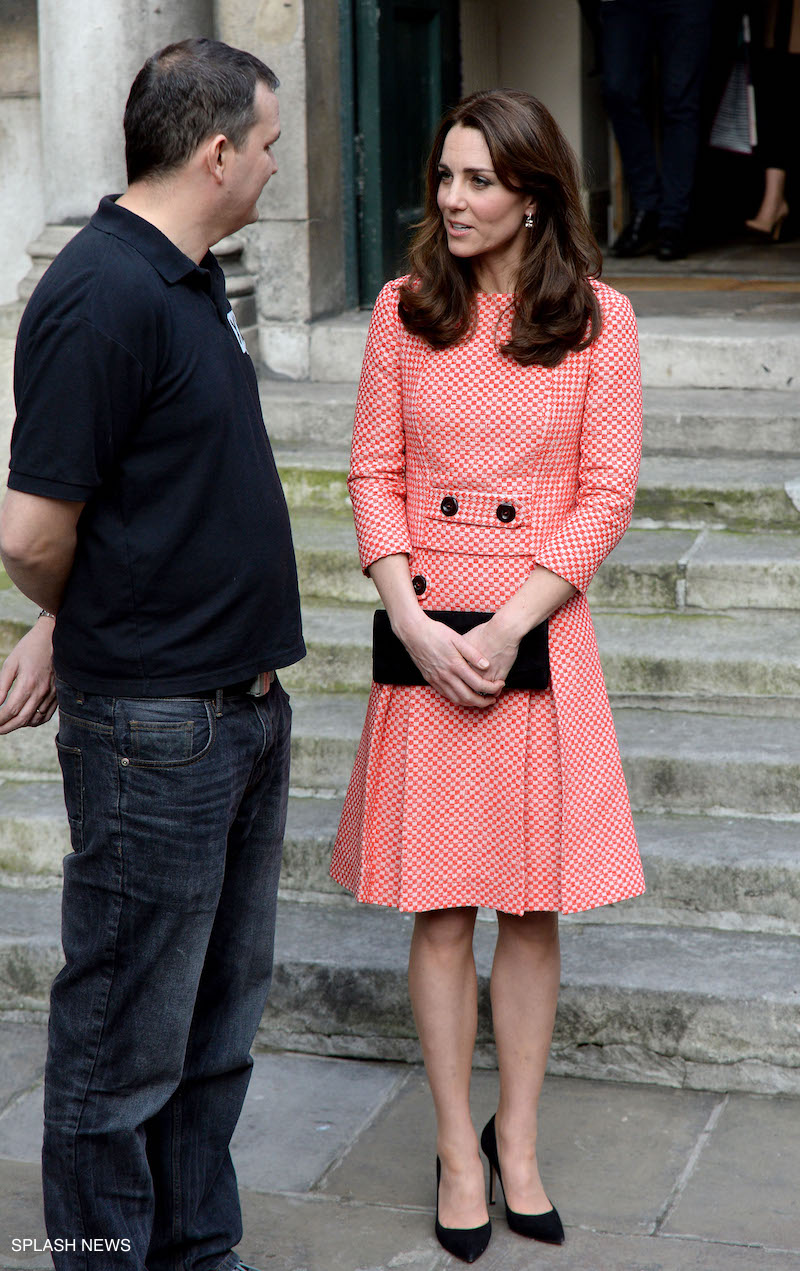 Kate Middleton wearing her Gianvito Suede pumps in black
