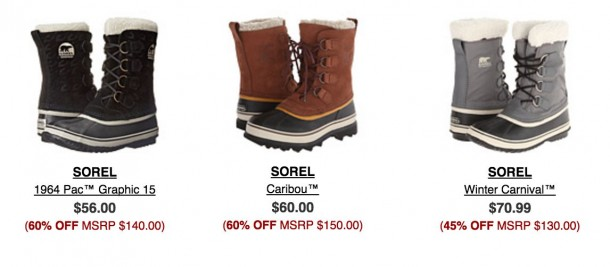 Sorel boots in other colours and styles