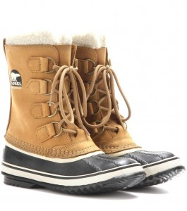 Sorel Snow and Ski Boots in Tan and Black, as worn by Kate Middleton