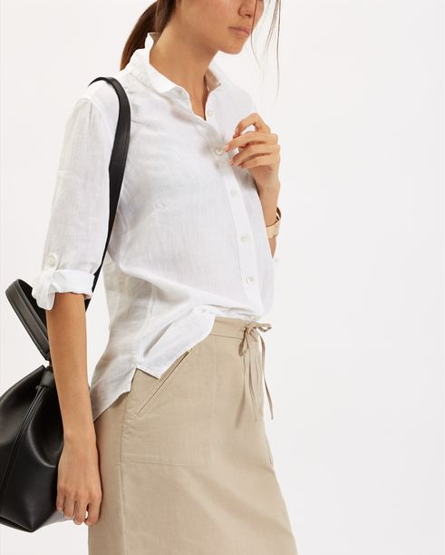 White Linen Blouse from Jaeger, as worn by Kate Middleton