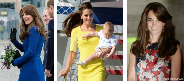 Kate Middleton wearing Roksanda Ilyncic, Erdem and Christopher Kane
