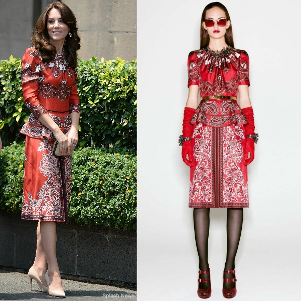 Kate Middleton Custom Alexander McQueen dress
