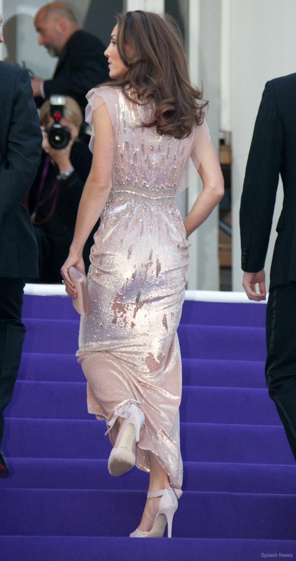 Kate Middleton wearing her L.K. Bennett Agata shoes to the Ark Gala