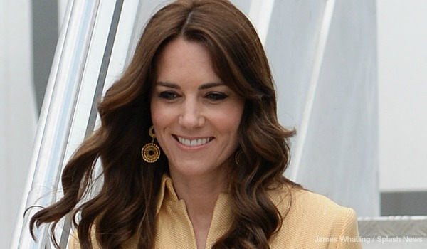Kate wears gold coat dress for Bhutan arrival