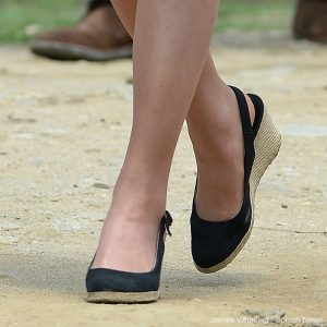 Kate Middleton wearing Dune wedges