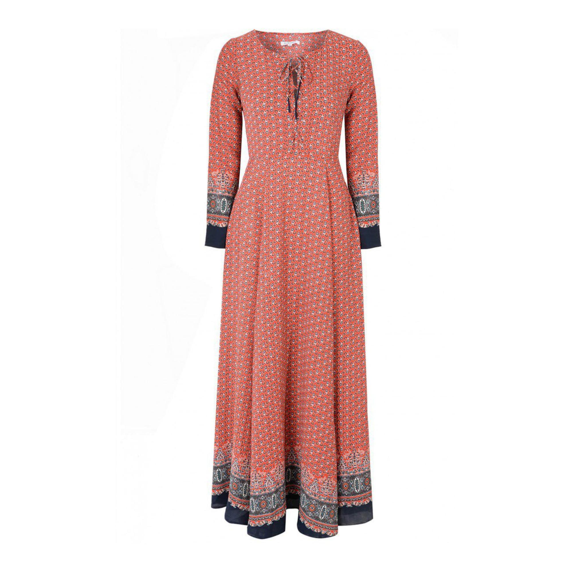 Glamorous Red & Navy Maxi Dress · Kate Middleton Style Blog