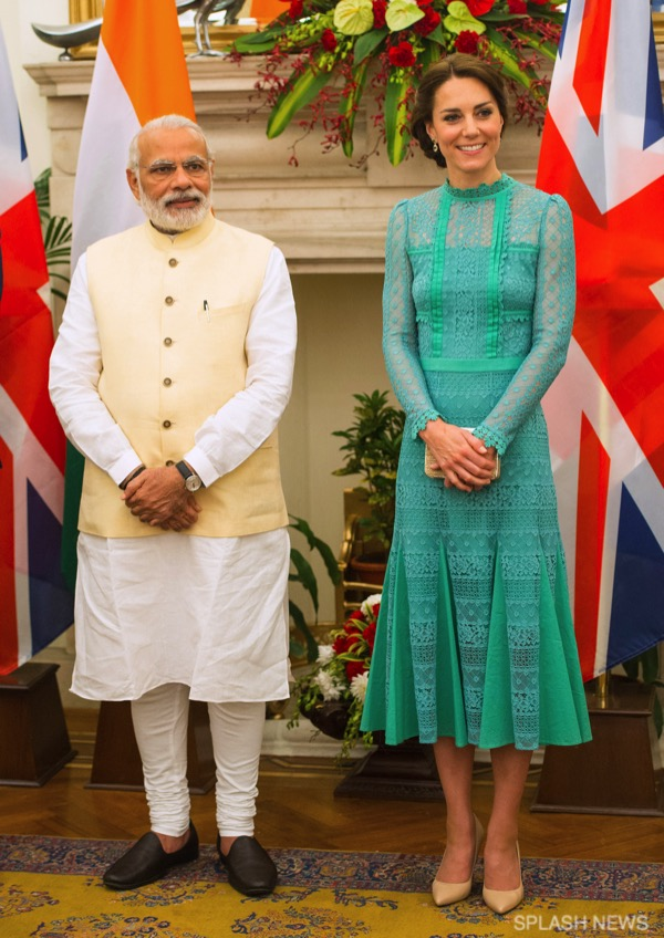 The Duke and Duchess of Cambridge have lunch with Indian Prime Minister Narendra Modi in New Delhi, India, on the 12th April 2016.