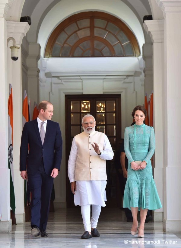 William and Kate meet the Indian PM
