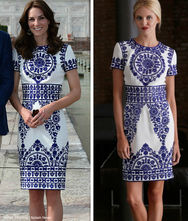Kate Middleton wearing Naeem Khan at the Taj Mahal