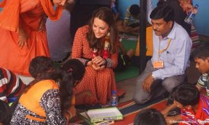 Kate wears £50 dress from British high street brand Glamorous for charity visit in New Delhi