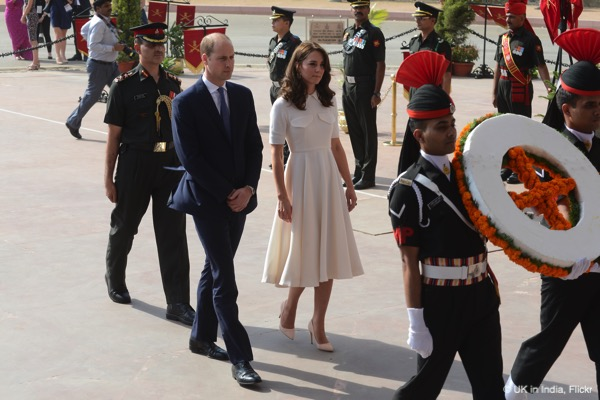 William and Kate travel to New Delhi to lay a wreath