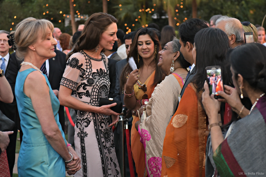 Kate Middleton wearing Temperley London at the Queen's birthday garden party in India