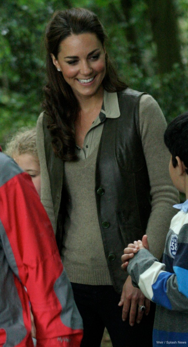 Kate Middleton with the scouts in 2012