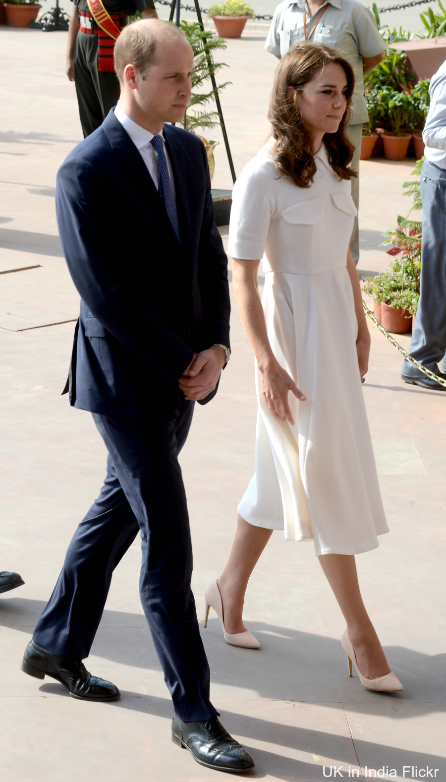 Kate Middleton wearing Rupert Sanderson pumps