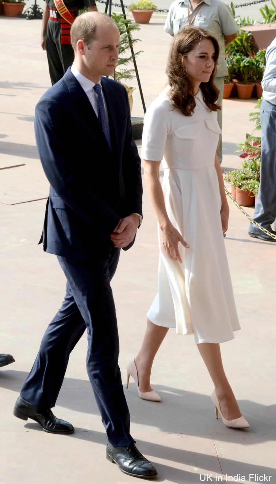 Kate Middleton wearing Rupert Sanderson pumps