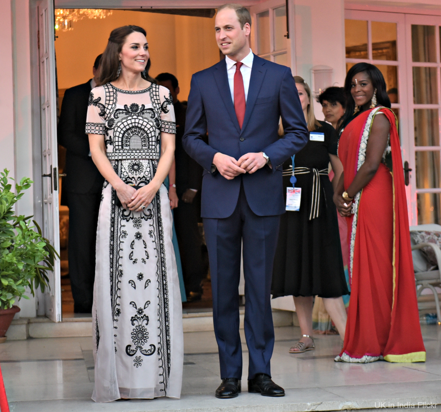 Kate Middleton wearing the Temperley Delphia dress